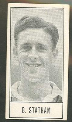 1957 Barratt & Co Ltd Test Cricketers Series B Brian Statham trade card