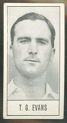 1957 Barratt & Co Ltd Test Cricketers Series B Godfrey Evans trade card
