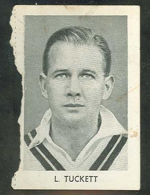 1947 Radio Fun Famous Test Cricketers L Tuckett trade card