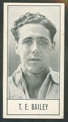 1957 Barratt & Co Ltd Test Cricketers Series B Trevor Bailey trade card