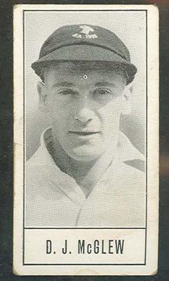1957 Barratt & Co Ltd Test Cricketers Series B Jack McGlew trade card