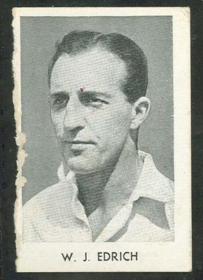 1947 Radio Fun Famous Test Cricketers W J Edrich trade card
