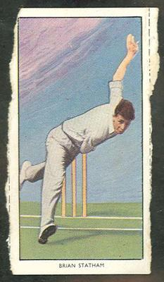 1955 Radio Fun British Sports Stars Brian Statham trade card