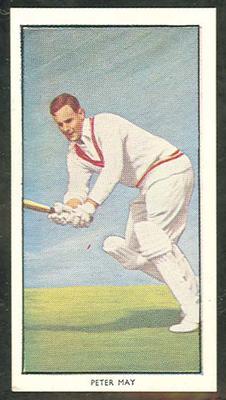 1955 Radio Fun British Sports Stars Peter May trade card