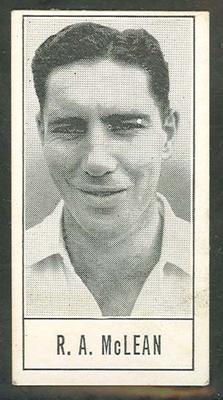 1957 Barratt & Co Ltd Test Cricketers Series B Roy McLean trade card