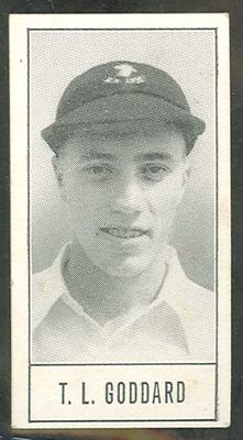 1957 Barratt & Co Ltd Test Cricketers Series B Trevor Goddard trade card; Documents and books; M9716.48