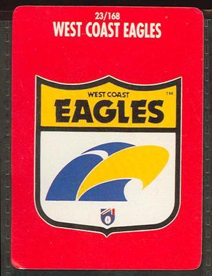 1991 Stimorol Australian Football West Coast Eagles trade card