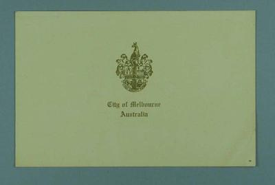 1948-49 Christmas card from The Melbourne Invitation Committee for 1956 Olympic Games; Documents and books; 1998.3431.14