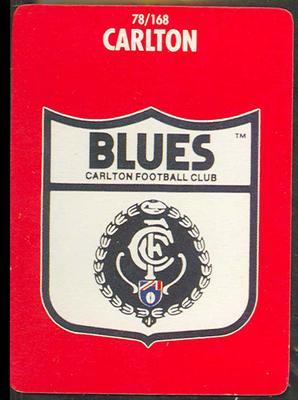1991 Stimorol Australian Football Carlton Blues trade card; Documents and books; M11755.10