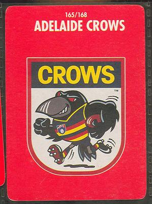 1991 Stimorol Australian Football Adelaide Crows trade card; Documents and books; M11755.20