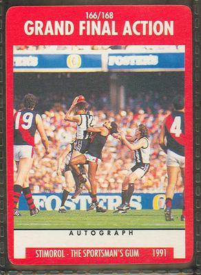 1991 Stimorol Australian Football Grand Final Action trade card