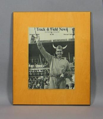 """Cover of """"Track & Field News"""", Jan 1966; Documents and books; Framed; 1994.3065.7"""