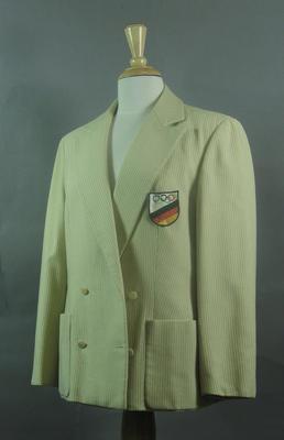 Blazer worn by Maria Sander, 1956 Olympic Games German team