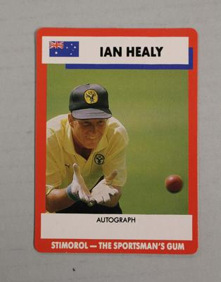 1990 Stimorol Cricket Stumpers Competition Ian Healy trade card