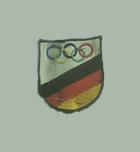 German Team Badge 1956 Olympic Games, part of team blazer worn my Maria Sander