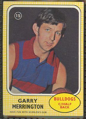 1970 Scanlen's Gum Australian Football, Garry Merrington trade card