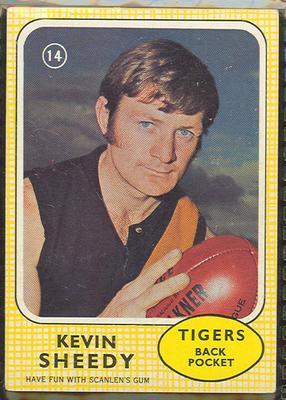 1970 Scanlen's Gum Australian Football, Kevin Sheedy trade card