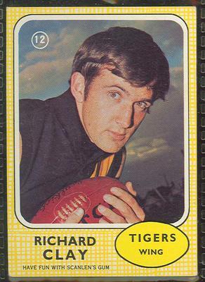 1970 Scanlen's Gum Australian Football, Richard Clay trade card