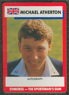 1990 Stimorol Cricket Stumpers Competition Michael Atherton trade card