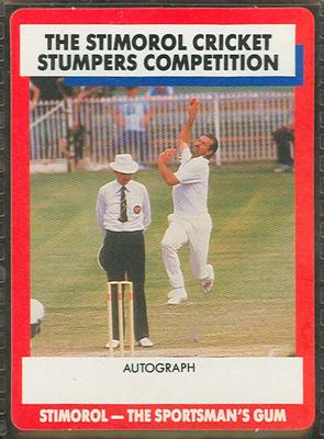 1990 Stimorol Cricket Stumpers Competition Dennis Lillee trade card