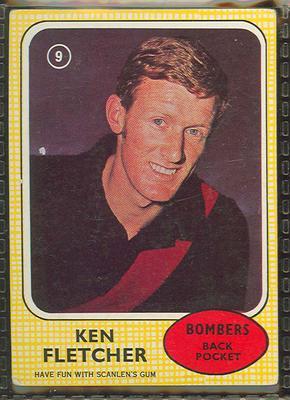 1970 Scanlen's Gum Australian Football, Ken Fletcher trade card