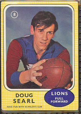 1970 Scanlen's Gum Australian Football, Doug Searl trade card