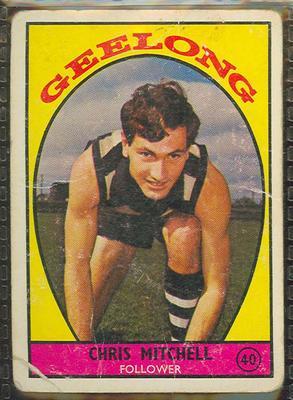1968 Scanlen's Gum Australian Football - Series A, Chris Mitchell trade card