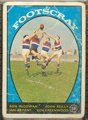 1968 Scanlen's Gum Australian Football - Series A, Footscray FC trade card
