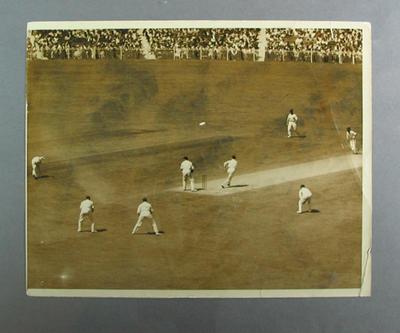 Photograph of cricket match in progress, undated