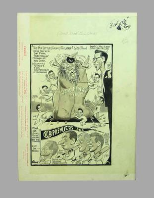 Cartoon, Victorian Cricket Association Final 1964