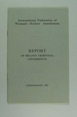 Report, International Federation of Women's Hockey Associations Conference 1933