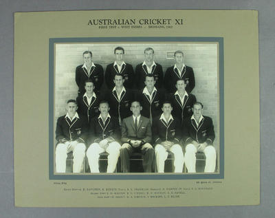 Photograph of Australian XI, Brisbane - 1960