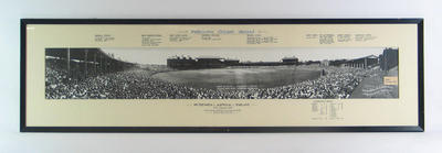 Copy of panoramic photograph of MCG, Australia v England Test match - 2 January 1933
