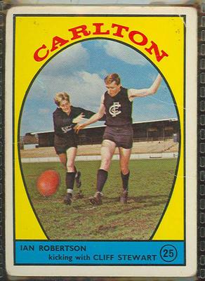 1968 Scanlen's Gum Australian Football - Series A, Carlton FC trade card