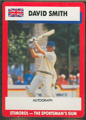1990 Stimorol Cricket Stumpers Competition David Smith trade card; Documents and books; M7877.44