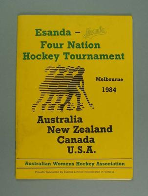 Programme, Four Nation Hockey Tournament 1984