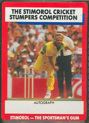 1990 Stimorol Cricket Stumpers Competition Jeff Thomson trade card; Documents and books; M7877.45