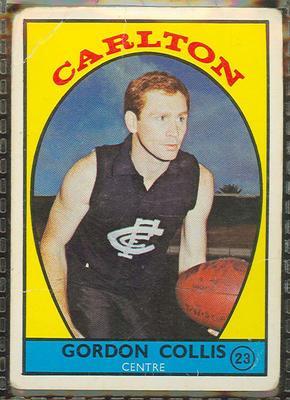 1968 Scanlen's Gum Australian Football - Series A, Gordon Collis trade card