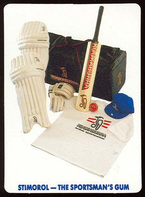 1990 Stimorol Cricket Stumpers Competition prize list trade card; Documents and books; M7877.55