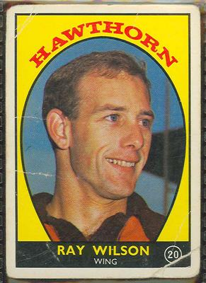 1968 Scanlen's Gum Australian Football - Series A, Ray Wilson trade card
