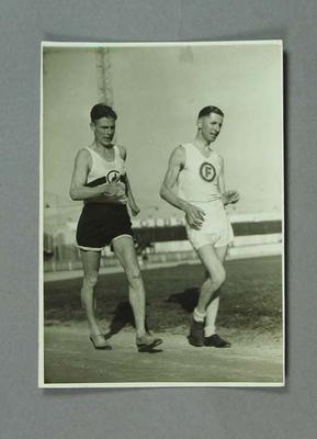 Photograph of George Knott and Alan Reid, Oct 1946; Photography; 1994.3095.56