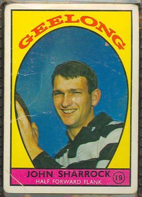 1968 Scanlen's Gum Australian Football - Series A, John Sharrock trade card