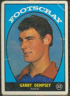 1968 Scanlen's Gum Australian Football - Series A, Gary Dempsey trade card