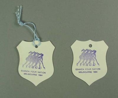 Tickets, Four Nation Hockey Tournament 1984