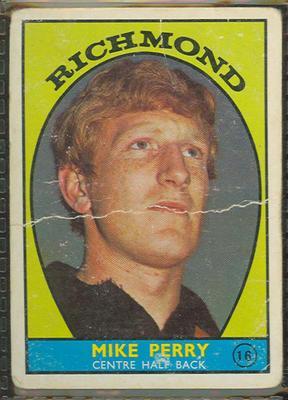 1968 Scanlen's Gum Australian Football - Series A, Mike Perry trade card