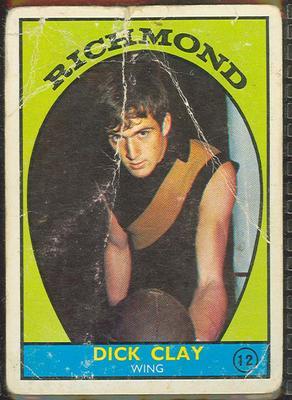1968 Scanlen's Gum Australian Football - Series A, Dick Clay trade card