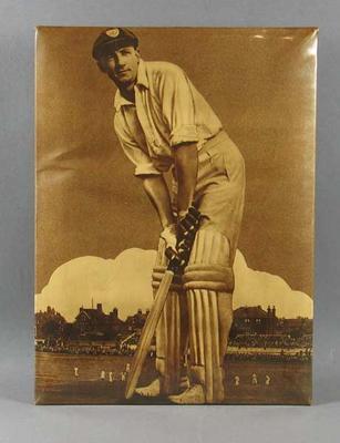 Celluloid photograph of Don Bradman, circa 1930