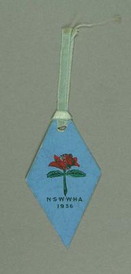 Luggage tag, New South Wales Women's Hockey Association 1936