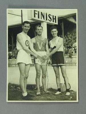 Photograph of Alan Reid, Alex Philpott & Gus Theobald, c1930s-40s