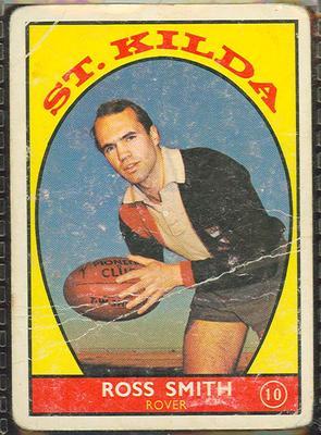1968 Scanlen's Gum Australian Football - Series A, Ross Smith trade card